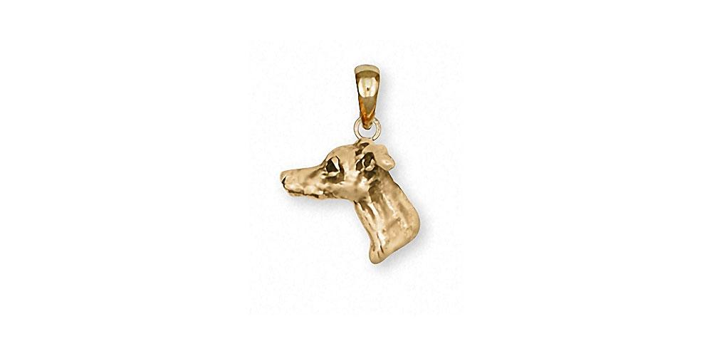 Italian Greyhound Charms Italian Greyhound Pendant 14k Gold Dog Jewelry Italian Greyhound jewelry