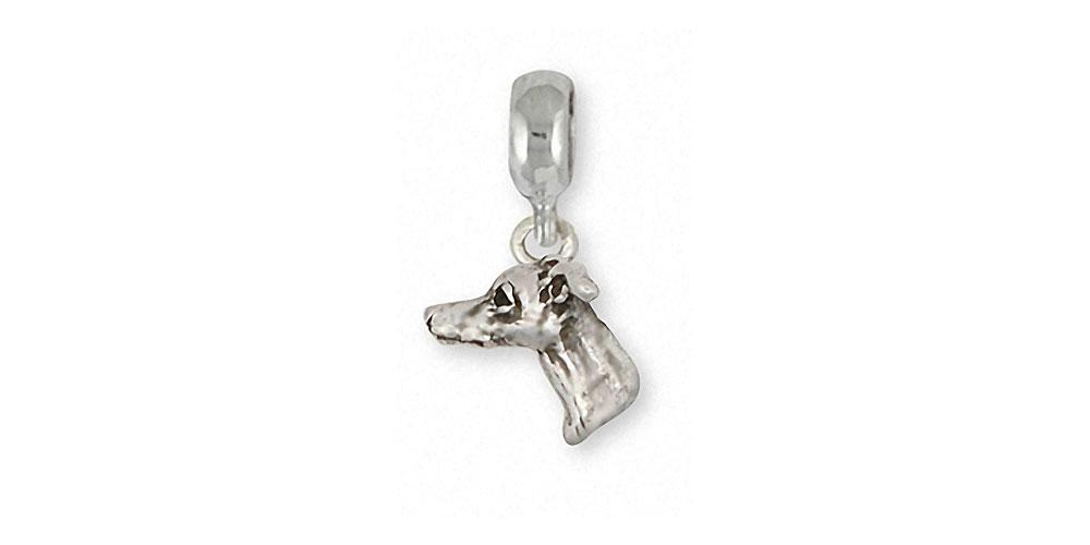 Italian Greyhound Charms Italian Greyhound Charm Slide Sterling Silver Dog Jewelry Italian Greyhound jewelry
