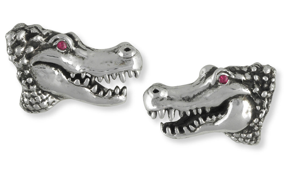 Alligator Cuff Links Jewelry Handmade Sterling Silver ALG1-CL