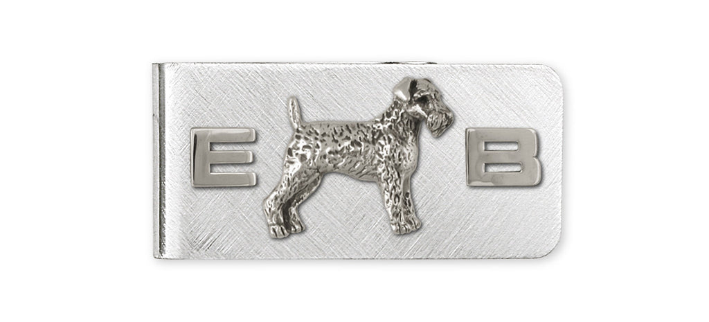 Airedale Terrier Charms Airedale Terrier Money Clip Sterling Silver Dog Jewelry Airedale Terrier jewelry