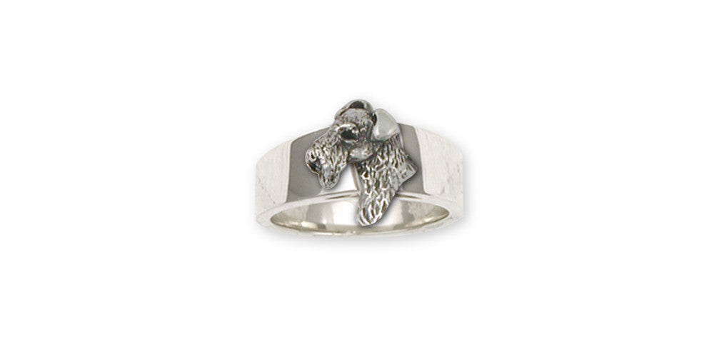 Airedale Terrier Charms Airedale Terrier Ring Sterling Silver Dog Jewelry Airedale Terrier jewelry