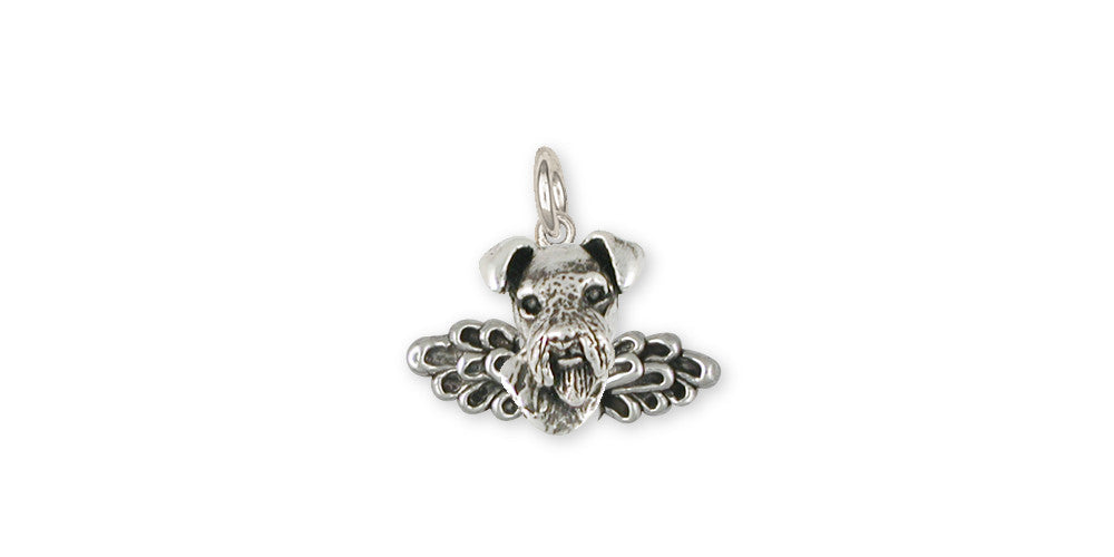Airedale Terrier Angel Charms Airedale Terrier Angel Charm Sterling Silver Dog Jewelry Airedale Terrier Angel jewelry