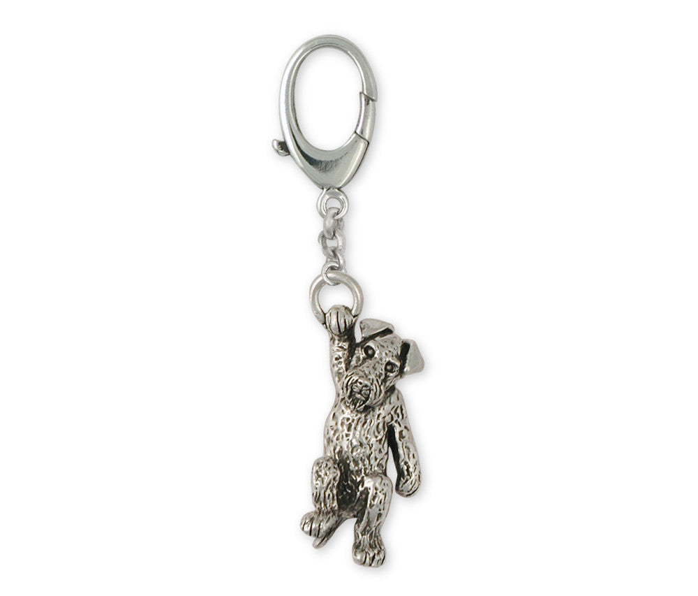 Airedale Terrier Charms Airedale Terrier Zipper Pull Sterling Silver Dog Jewelry Airedale Terrier jewelry