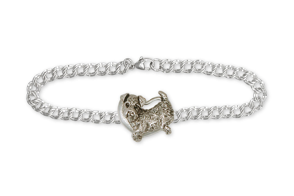 Airedale Terrier Charms Airedale Terrier Bracelet Sterling Silver Dog Jewelry Airedale Terrier jewelry