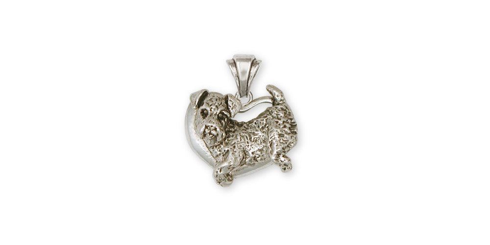 Airedale Terrier Charms Airedale Terrier Pendant Sterling Silver Dog Jewelry Airedale Terrier jewelry