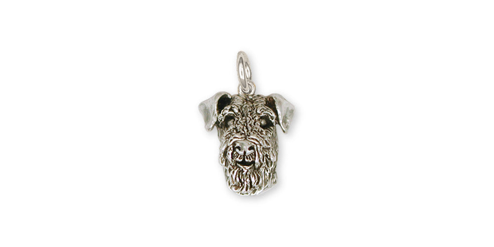 Airedale Terrier Charms Airedale Terrier Charm Sterling Silver Dog Jewelry Airedale Terrier jewelry