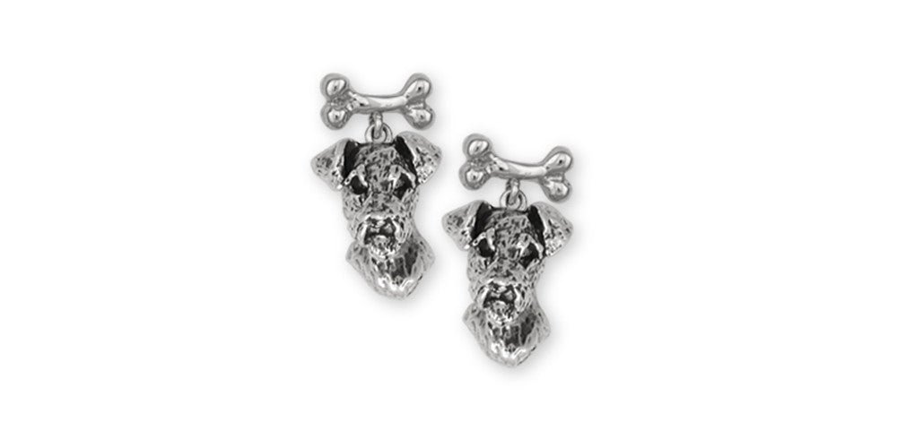 Airedale Terrier Charms Airedale Terrier Earrings Sterling Silver Dog Jewelry Airedale Terrier jewelry