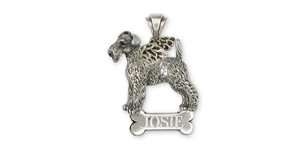 Airedale Terrier Angel Charms Airedale Terrier Angel Pendant Sterling Silver Dog Jewelry Airedale Terrier Angel jewelry
