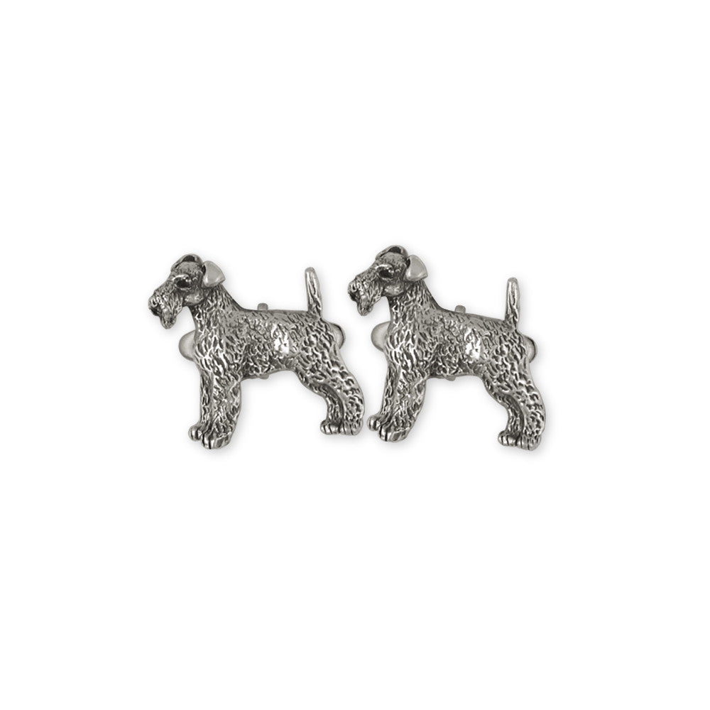 Airedale Terrier Charms Airedale Terrier Cufflinks Sterling Silver Dog Jewelry Airedale Terrier jewelry
