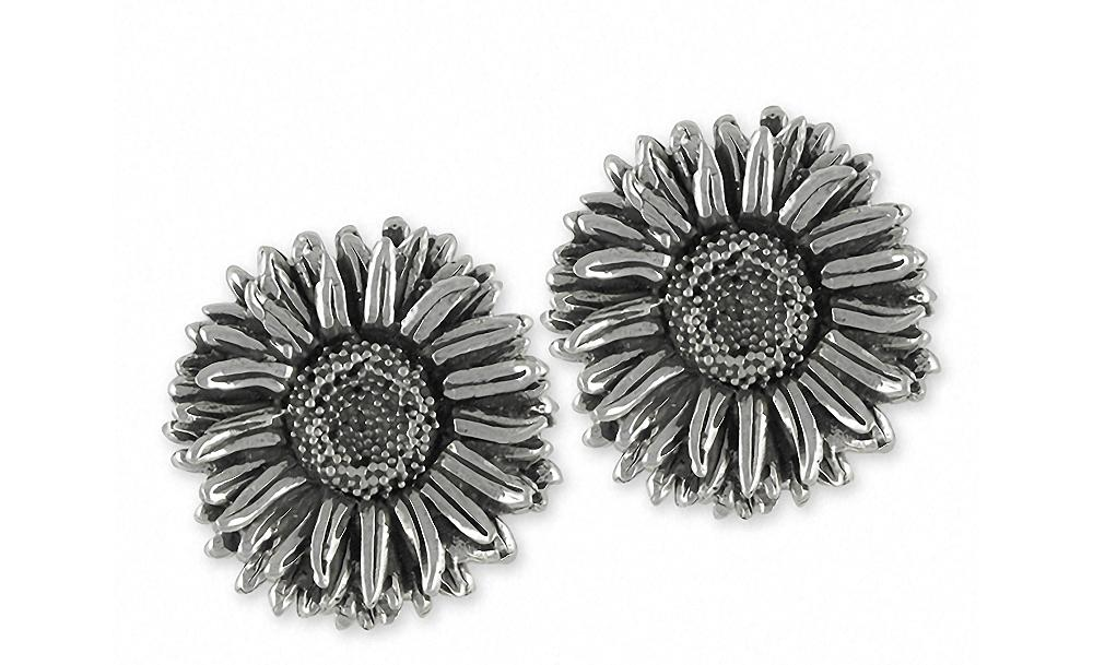 Aster Charms Aster Cufflinks Sterling Silver Flower Jewelry Aster jewelry