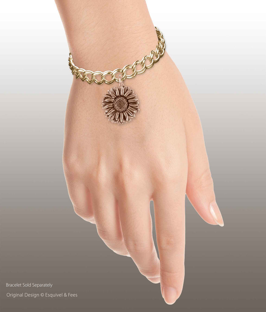 Aster Jewelry 14k Rose Gold Handmade Aster Flower Charm  AST1-CRG