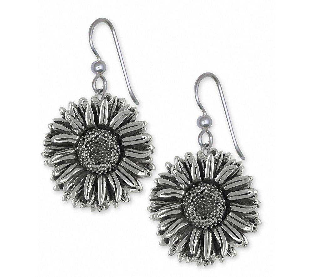 Aster Charms Aster Earrings Sterling Silver Flower Jewelry Aster jewelry