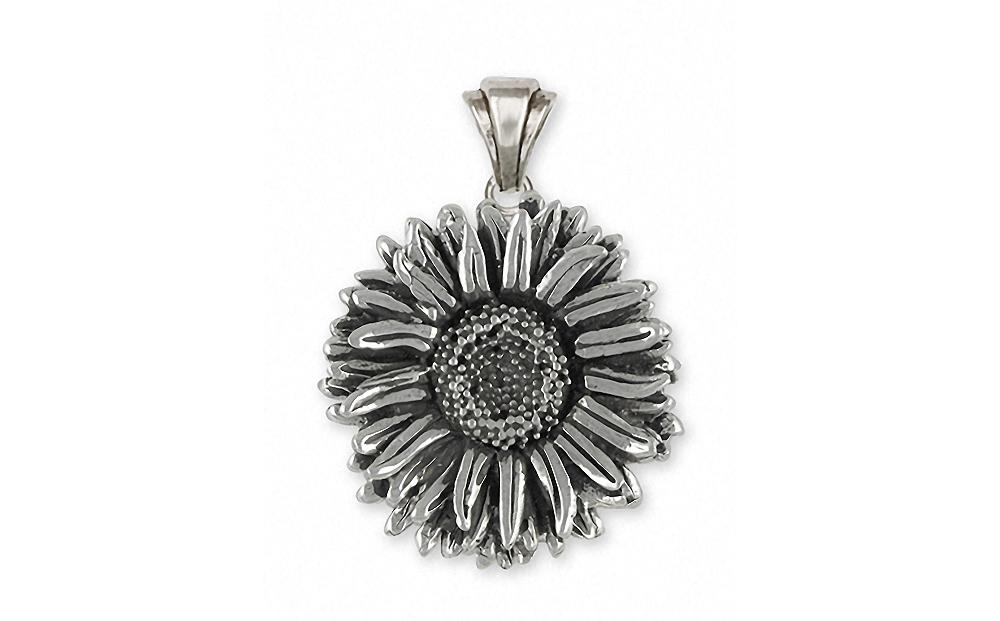 Aster Charms Aster Pendant Sterling Silver Flower Jewelry Aster jewelry