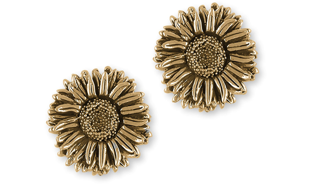 Aster Charms Aster Cufflinks 14k Yellow Gold Aster Flower Jewelry Aster jewelry