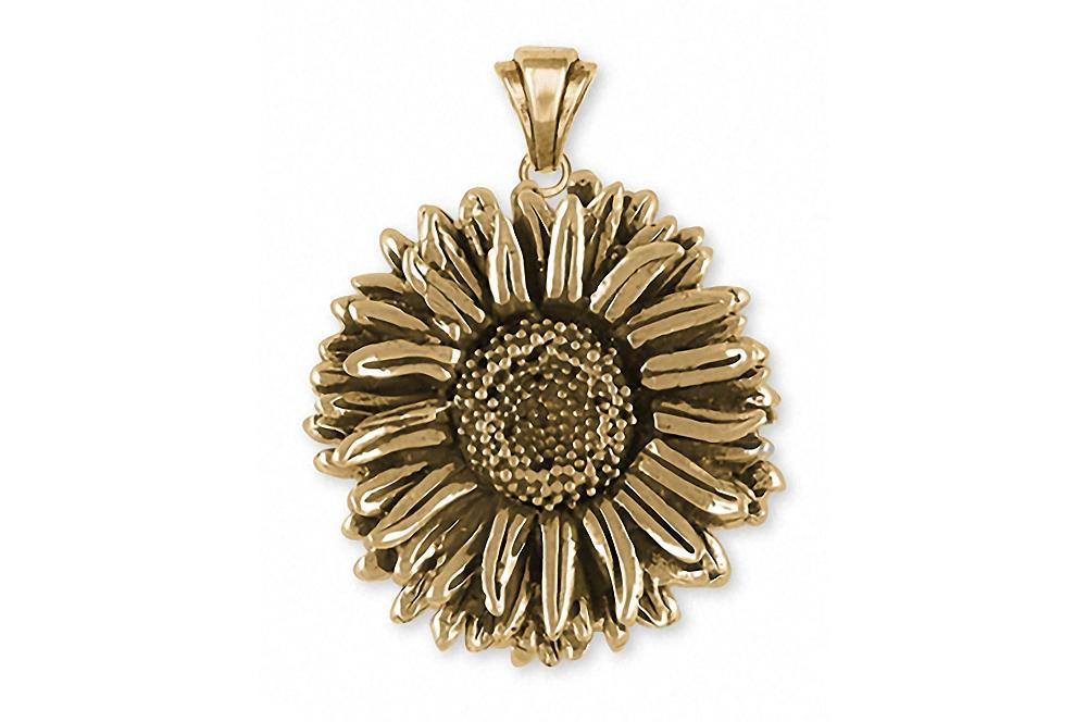 Aster Charms Aster Pendant 14k Gold Flower Jewelry Aster jewelry