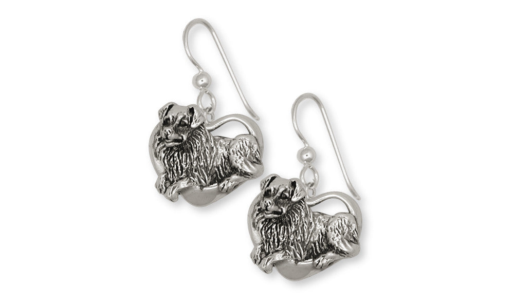 Australian Shepherd Charms Australian Shepherd Earrings Sterling Silver Dog Jewelry Australian Shepherd jewelry