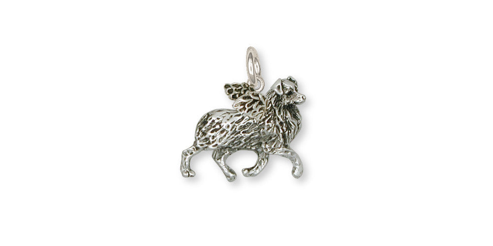 Sterling Silver Dog Angel Charm