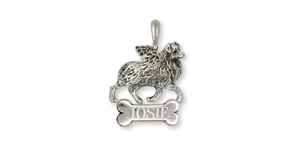Australian Shepherd Angel Charms Australian Shepherd Angel Pendant Sterling Silver Dog Jewelry Australian Shepherd Angel jewelry