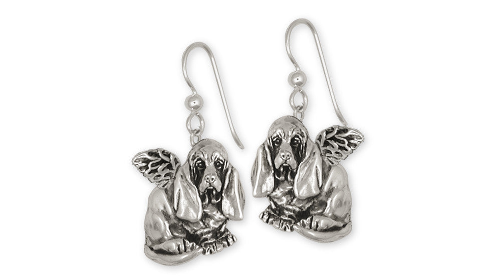 Basset Hound Angel Charms Basset Hound Angel Earrings Sterling Silver Dog Jewelry Basset Hound Angel jewelry
