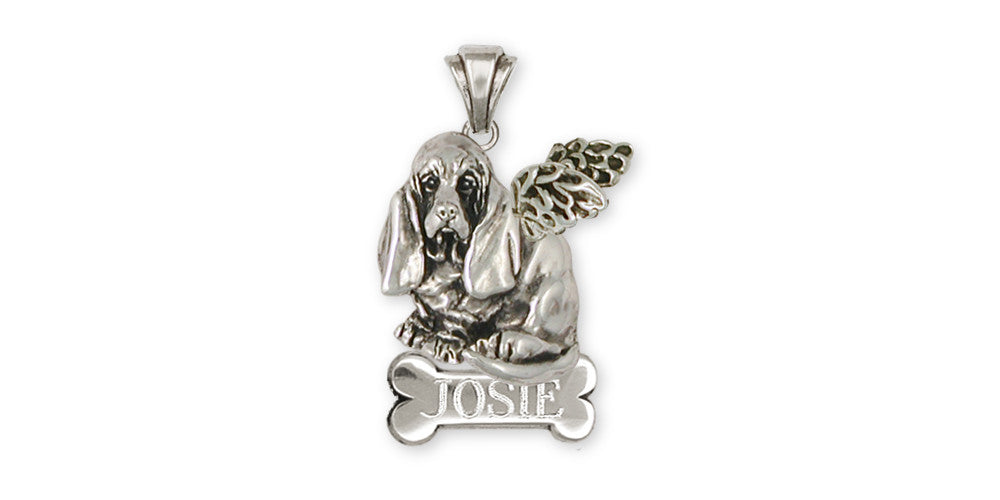 Basset Hound Angel Charms Basset Hound Angel Personalized Pendant Sterling Silver Dog Jewelry Basset Hound Angel jewelry