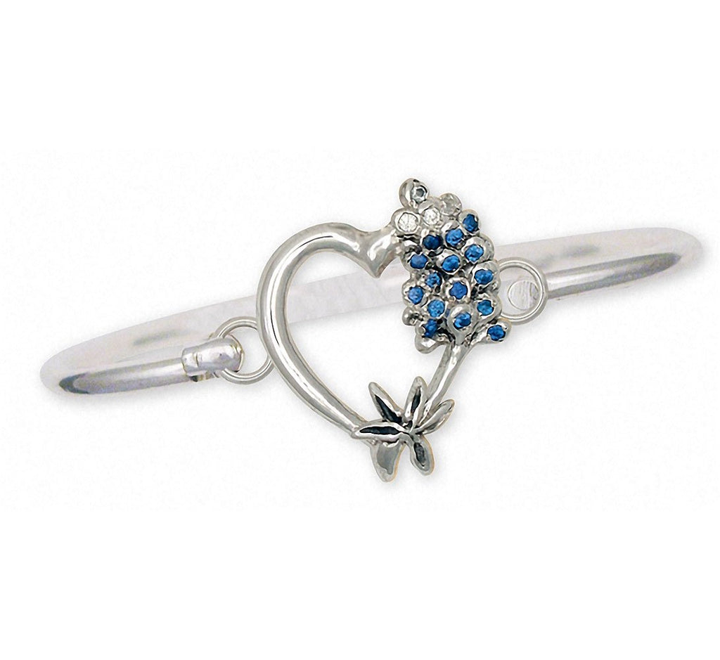 Bluebonnet Charms Bluebonnet Bracelet Sterling Silver Texas Wildflower Jewelry Bluebonnet jewelry