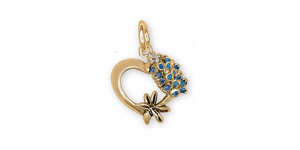 Bluebonnet Charms Bluebonnet Charm 14k Gold Texas Wildflower Jewelry Bluebonnet jewelry