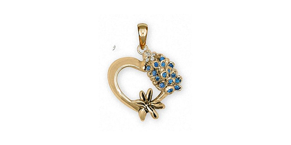 Bluebonnet Charms Bluebonnet Pendant 14k Gold Texas Wildflower Jewelry Bluebonnet jewelry