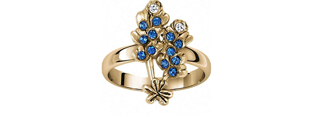 Bluebonnet Charms Bluebonnet Ring Sterling Silver Bluebonnet Flower Jewelry Bluebonnet jewelry