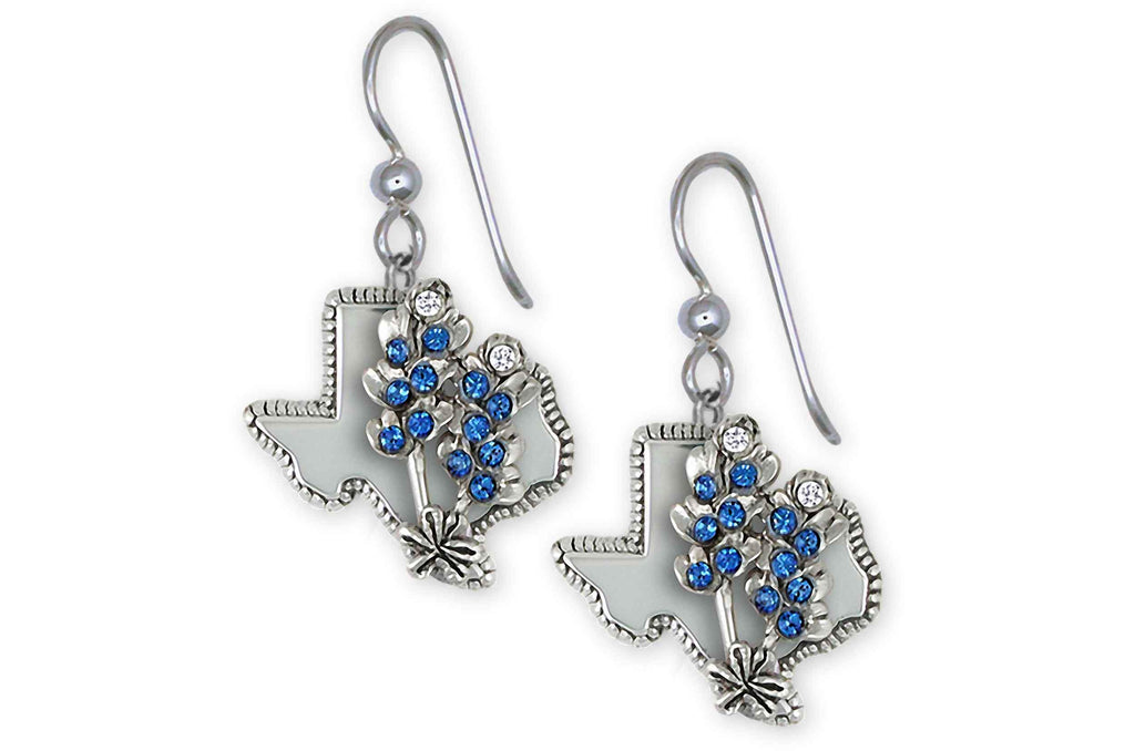 Bluebonnet Charms Bluebonnet Earrings Sterling Silver Bluebonnet Flower Jewelry Bluebonnet jewelry