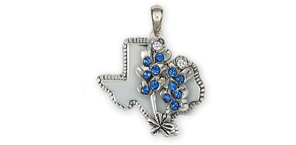 Bluebonnet Charms Bluebonnet Pendant Sterling Silver Bluebonnet Flower Jewelry Bluebonnet jewelry