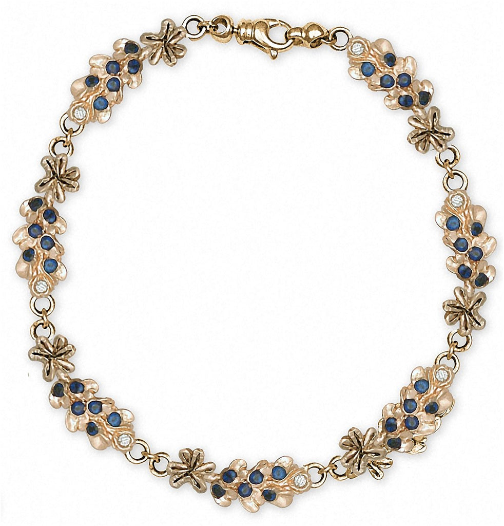 Bluebonnet Charms Bluebonnet Bracelet 14k Gold Texas Wildflower Jewelry Bluebonnet jewelry