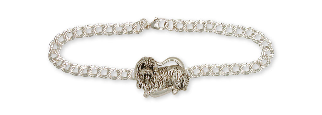 Bearded Collie Charms Bearded Collie Bracelet Handmade Sterling Silver Dog Jewelry Bearded Collie jewelry