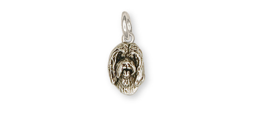Bearded Collie Charms Bearded Collie Charm Handmade Sterling Silver Dog Jewelry Bearded Collie jewelry