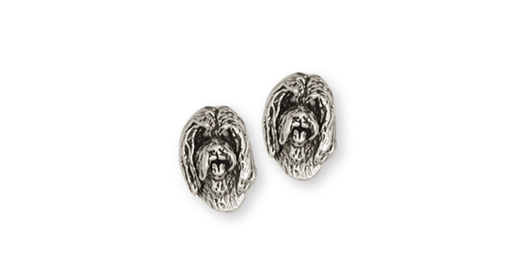 Bearded Collie Charms Bearded Collie Earrings Handmade Sterling Silver Dog Jewelry Bearded Collie jewelry