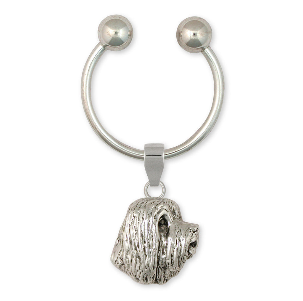 Bearded Collie Charms Bearded Collie Key Ring Handmade Sterling Silver Dog Jewelry Bearded Collie jewelry