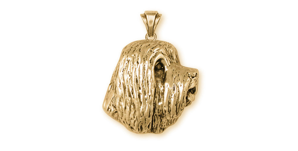 Bearded Collie Charms Bearded Collie Pendant 14k Yellow Gold Vermeil Dog Jewelry Bearded Collie jewelry