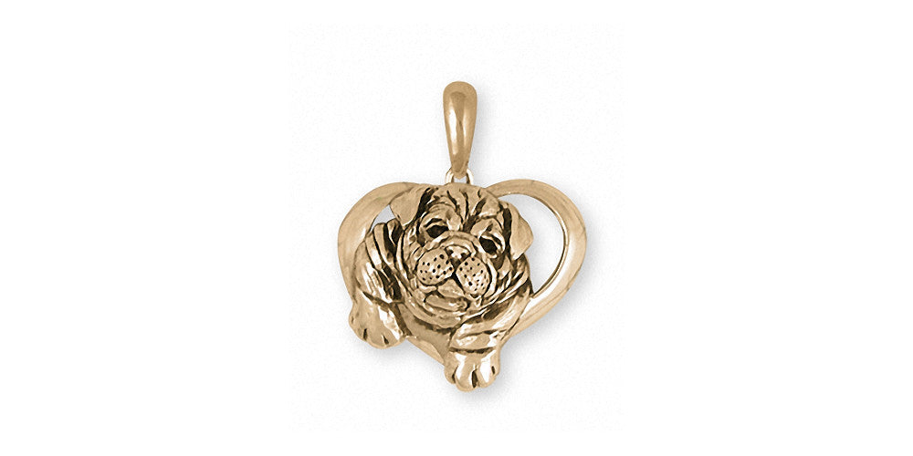 Bulldog Charms Bulldog Pendant 14k Gold Dog Jewelry Bulldog jewelry