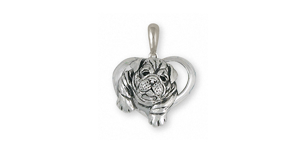 Bulldog Charms Bulldog Pendant Sterling Silver Dog Jewelry Bulldog jewelry