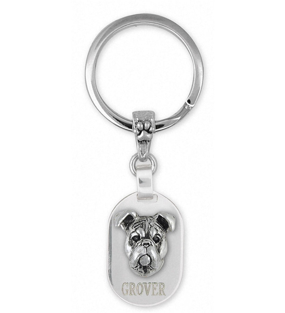 Boxer Charms Boxer Key Ring Sterling Silver Boxer Jewelry Boxer jewelry