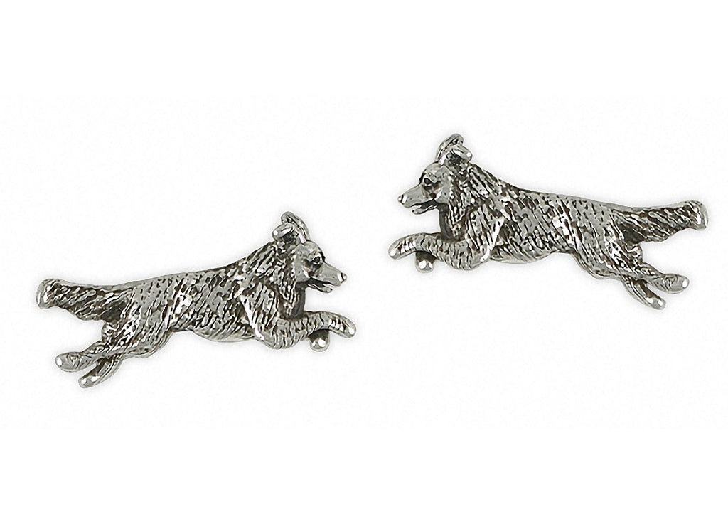 Border Collie Charms Border Collie Cufflinks Sterling Silver Dog Jewelry Border Collie jewelry