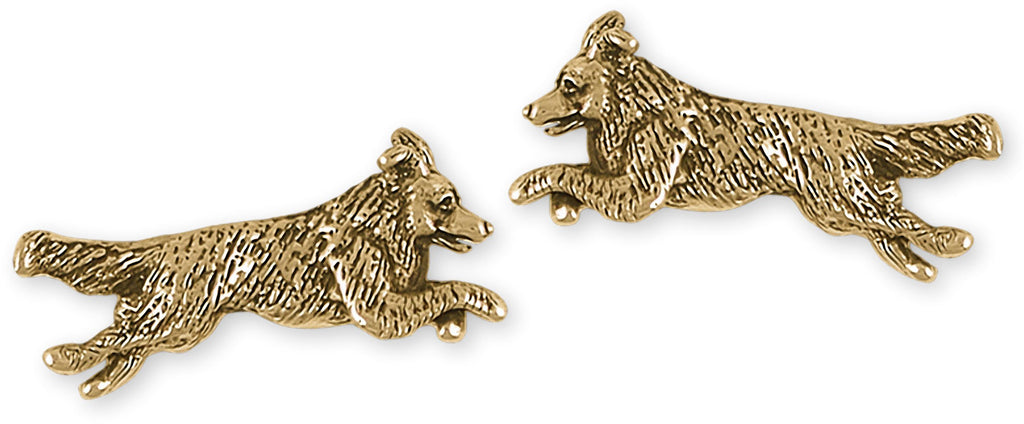 Border Collie Charms Border Collie Cufflinks Gold Vermeil Border Collie Jewelry Border Collie jewelry