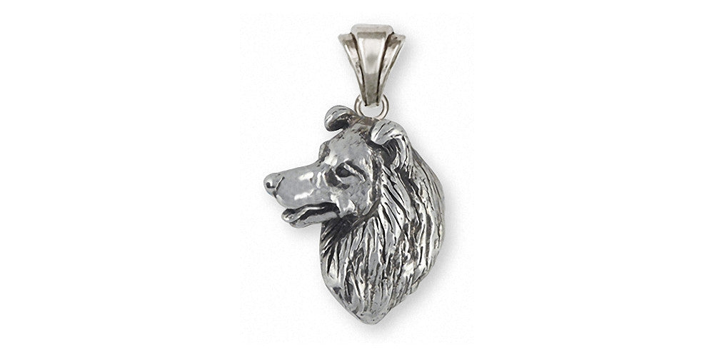 Border Collie Charms Border Collie Pendant Sterling Silver Dog Jewelry Border Collie jewelry