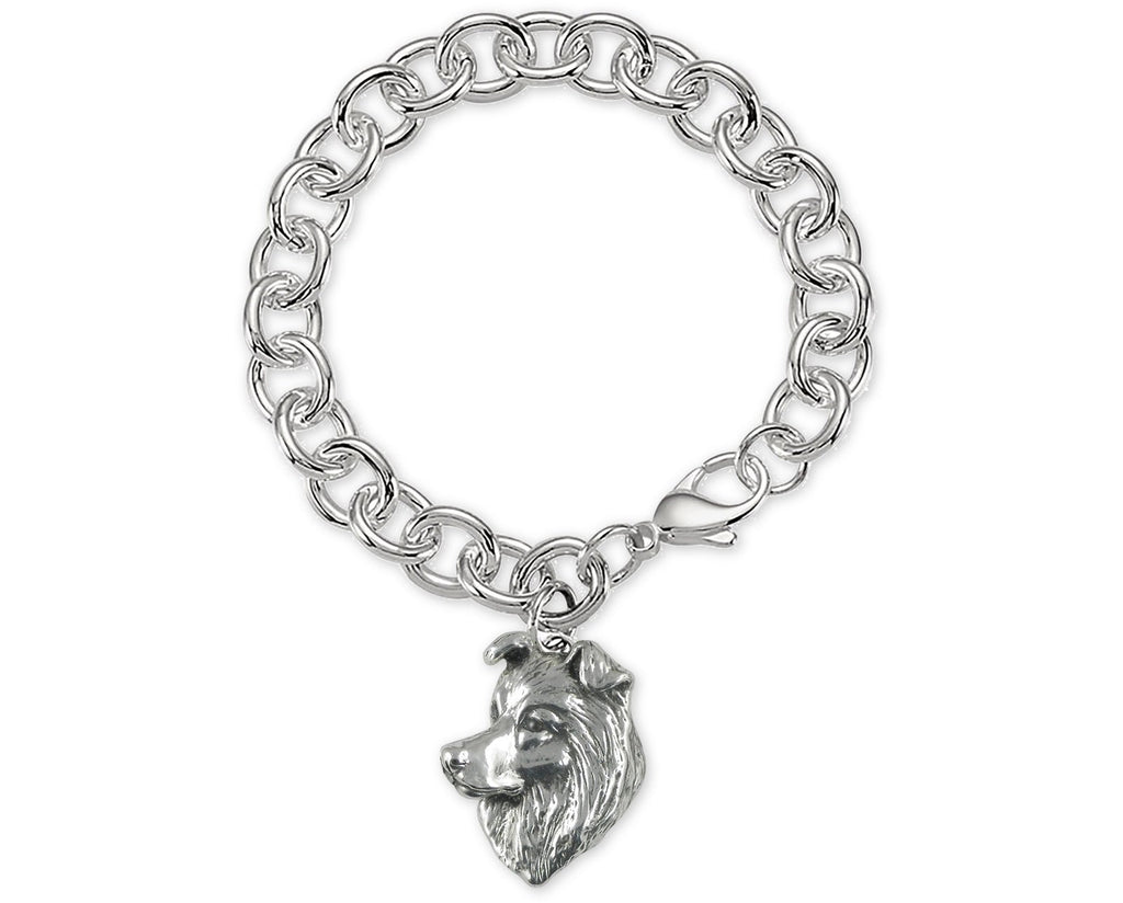 Border Collie Charms Border Collie Bracelet Sterling Silver Border Collie Jewelry Border Collie jewelry