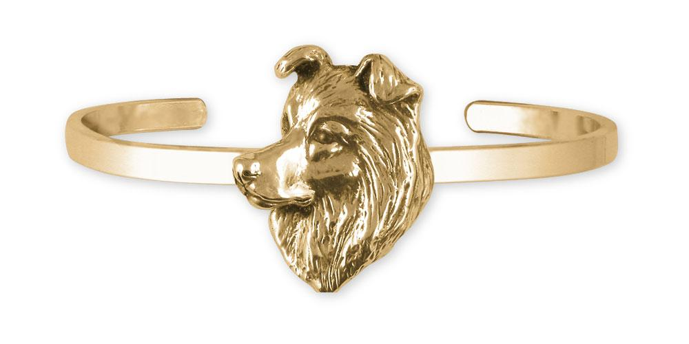Border Collie Charms Border Collie Bracelet 14k Gold Border Collie Jewelry Border Collie jewelry