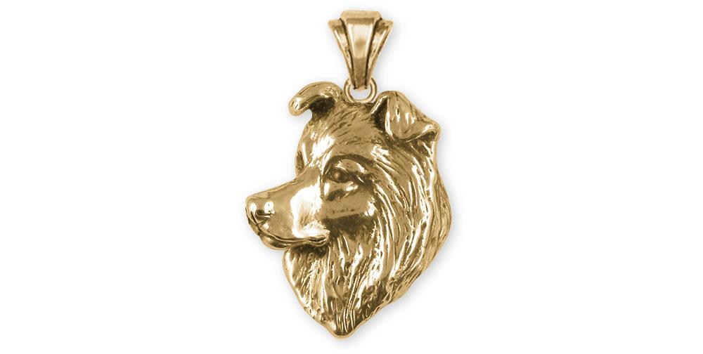 Border Collie Charms Border Collie Pendant 14k Gold Border Collie Jewelry Border Collie jewelry