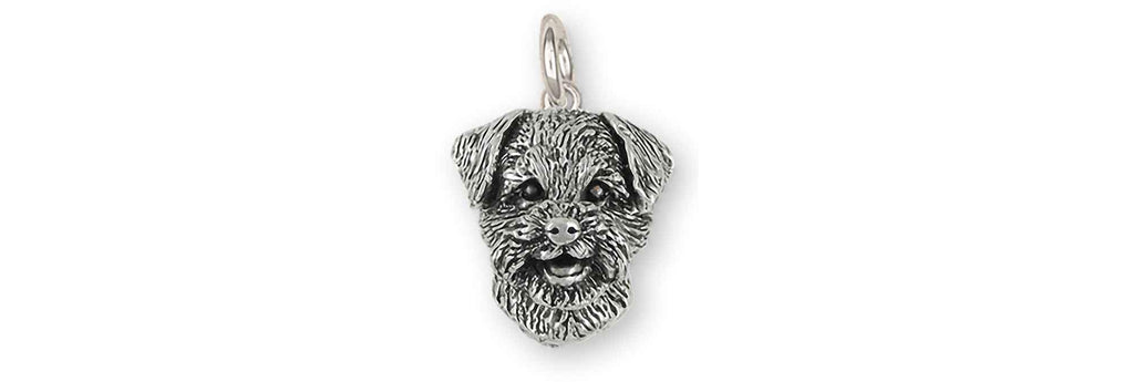 Border Terrier Charms Border Terrier Charm Sterling Silver Border Terrier Jewelry Border Terrier jewelry