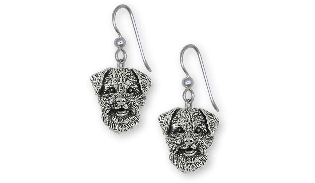 Border Terrier Charms Border Terrier Earrings Sterling Silver Border Terrier Jewelry Border Terrier jewelry