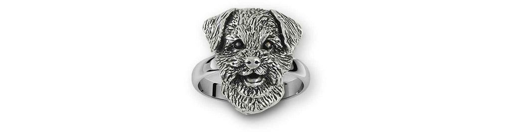Border Terrier Charms Border Terrier Ring Sterling Silver Border Terrier Jewelry Border Terrier jewelry