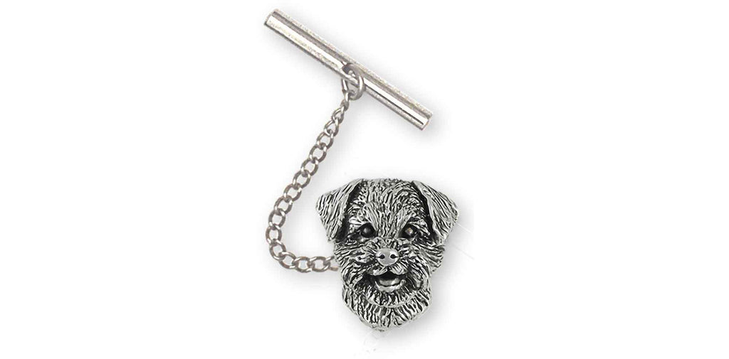 Border Terrier Charms Border Terrier Tie Tack Sterling Silver Border Terrier Jewelry Border Terrier jewelry