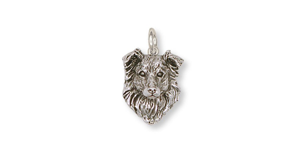 Border Collie Charms Border Collie Charm Sterling Silver Dog Jewelry Border Collie jewelry